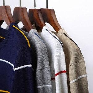 Image 5 - Airgracias 2019 Nuovo Maglione Degli Uomini di Modo di Marca Pullover a Righe Slim Fit Knitred Degli Uomini Vestiti di Lana Autunno Casual Tirare Hombre