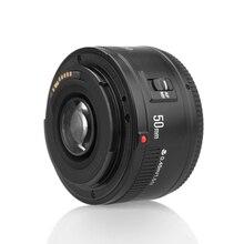 Yongnuo lente yn50mm f1.8 yn ef 50mm f/1.8 af lente yn50 abertura lente de foco automático para câmeras canon eos 60d 70d 5d2 5d3 600d dslr