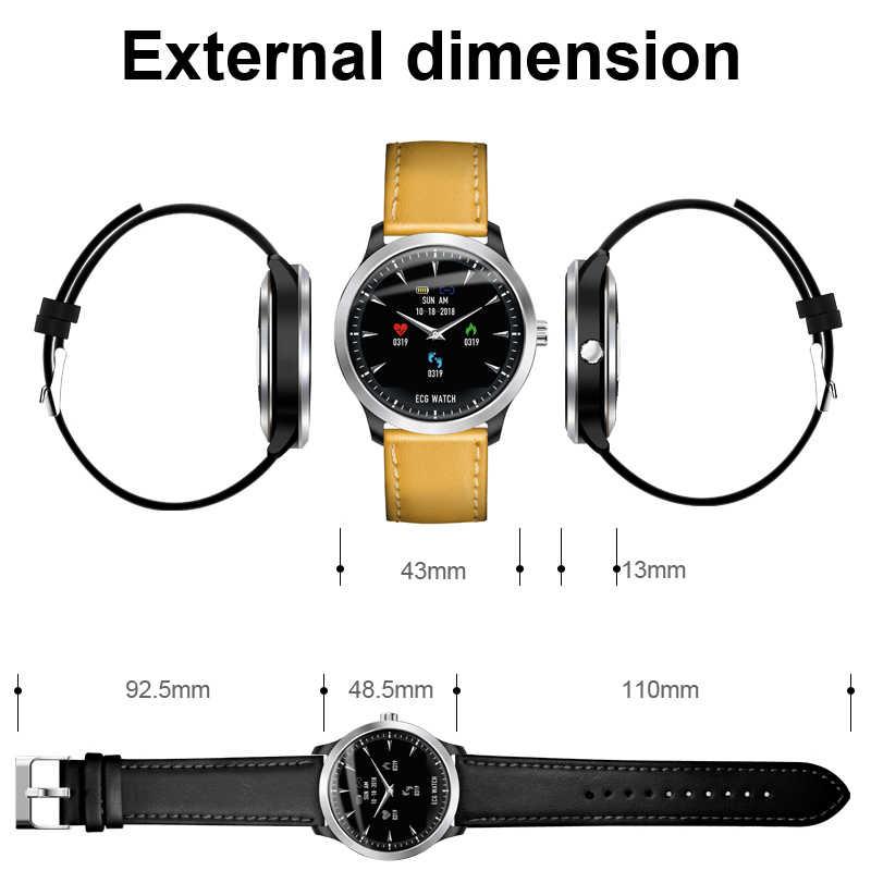 ييج ECG إندستريز ساعة ذكية مراقب معدل ضربات القلب ضغط الدم smartwatch ecg عرض النوم جهاز تعقب للياقة البدنية Smartwatch الروبوت IOS