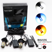 2pcs 1156 PY21W BAU15S 7507 LED Bulb Canbus 81 SMD White Amber Ice blue Auto Car Front Daytime Running Light Turn Signal