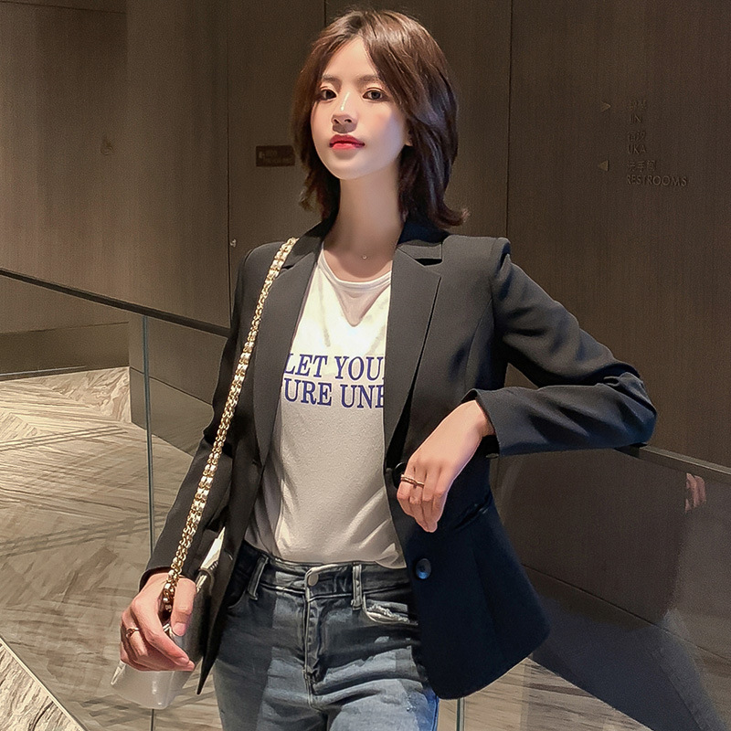 Women's Fashion Jackets 2020 new elegant double-breasted ladies blazer coat Spring and autumn casual temperament small suit