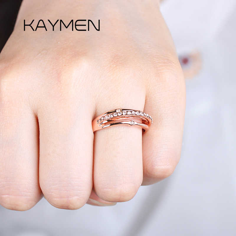 Одежда высшего качества Свадебная вечеринка кольца для женщин модные австрийского бренда, с украшением в виде кристаллов хвост кольцо старинные ювелирные изделия RI-00250