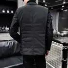 Casaco de algodão quente de inverno para homem casaco de gola de algodão para baixo - 4
