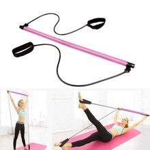 Portable Pilates Bar with Resistance Band Home Gym Yoga Exercise Bar with Foot Loop Health99 худи print bar drogos gym