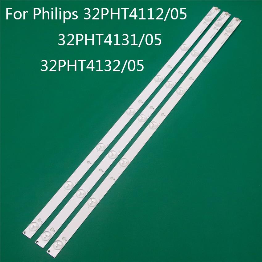 TV Illumination For Philips 32PHT4112/05 32PHT4131/05 32PHT4132/05 LED Bar Backlight Strip Line Ruler GJ-2K15 D2P5 D307-V1 V1.1