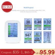 KKMOON цифровой детектор качества воздуха внутренний/открытый HCHO& TVOC тестер CO2 метр монитор тестер с перезаряжаемой батареей