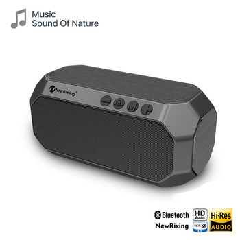 10W Portable Bluetooth Speaker with FM Radio Wireless TWS Stereo Outdoor Column Subwoofer Support TF card AUX USB Speakers 10w portable column bluetooth speaker touch control wireless bass speaker with mic fm radio tf card u disk aux for iphone pc