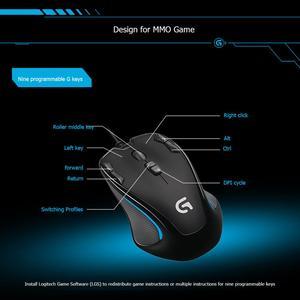 Image 5 - Logitech G300s Ambidextrous Optical Gamingเมาส์USBสาย 9 ปุ่มที่ตั้งโปรแกรมMouse2500DPI 7 สีBacklightเกมเม้าส์