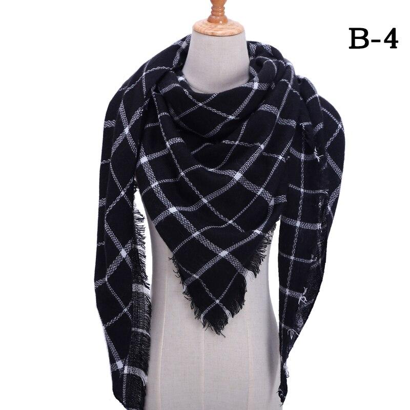 Женский зимний шарф в ретро стиле, кашемировые вязаные пашмины шали, женские мягкие треугольные шарфы, бандана, теплое одеяло, новинка - Цвет: bb4