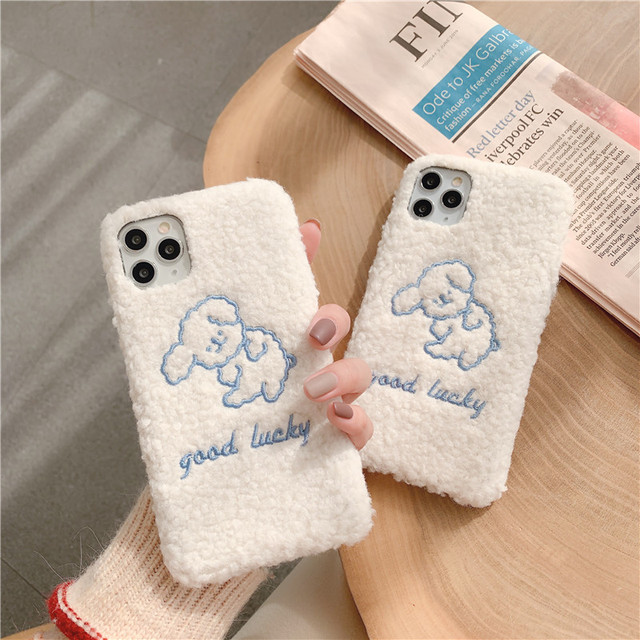 Winter Warm Fuzzy Phone Case For iPhone