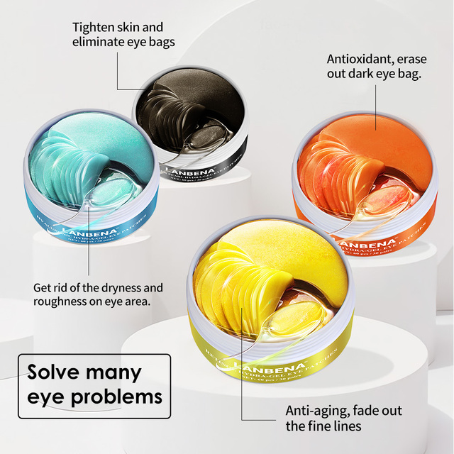 LANBENA Eye Mask Gel Retinol Gold Collagen Eye Patch Reduce Dark Circles Puffy Eyes Fine Lines Anti Aging Moisturizing Eyes Care 1