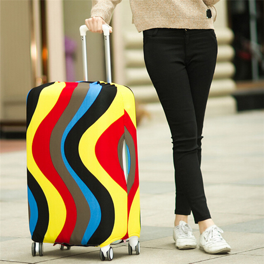 Travel Luggage Suitcase Protective Cover Trolley Case Dust Cover Travel Accessories Apply(Only Cover) Trolley Box Luggage Cover