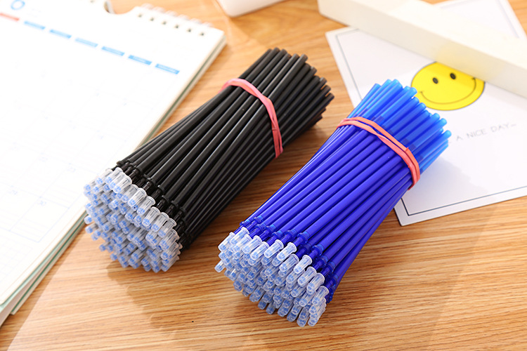 20Pcs/Set Office Gel Pen Erasable Refill Rod Magic Erasable Pen Refill 0.5mm Blue Black Ink School Stationery Writing Tool Gift