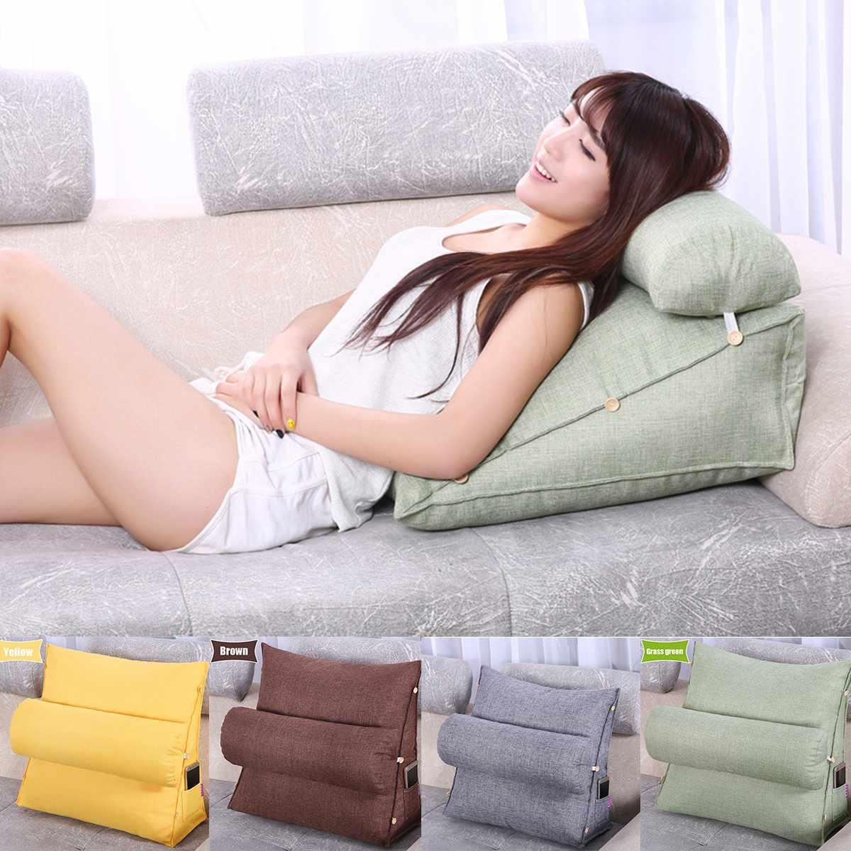 35 bed couch chair sofa cushion with triangular backrest pillow bed backrest office chair pillow support waist cushion