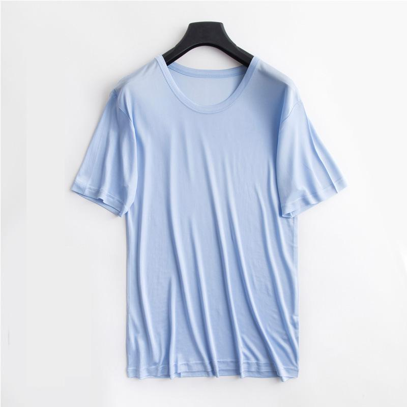 100% True Silk  Men Sleep  Wear Mens Short Nightshirt 1200