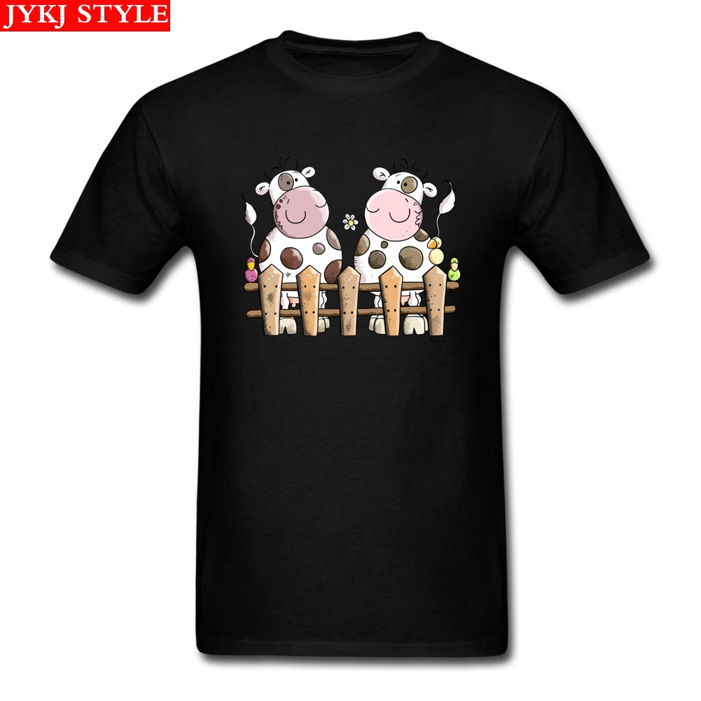 Happy <font><b>Cows</b></font> <font><b>T</b></font> <font><b>Shirt</b></font> Plus Size Custom Short Sleeve Men's Clothes Hip Hop Rashguard Cotton <font><b>T</b></font> <font><b>Shirts</b></font> Fitness Men image