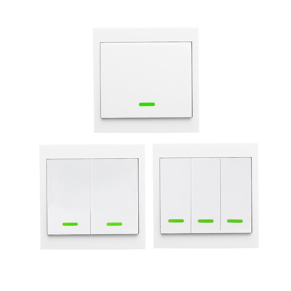 Кнопочный настенный светильник, переключатель дистанционного управления, 3 комплекта, 86 типов, панельный переключатель, умный дом, 433 МГц, бе...