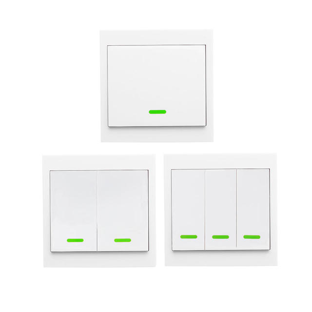 Wireless Remote Transmitter Sticky RF Intelligent Switch for Home Living Room Bedroom 433MHZ 86 Wall Panel Switches Smart Home