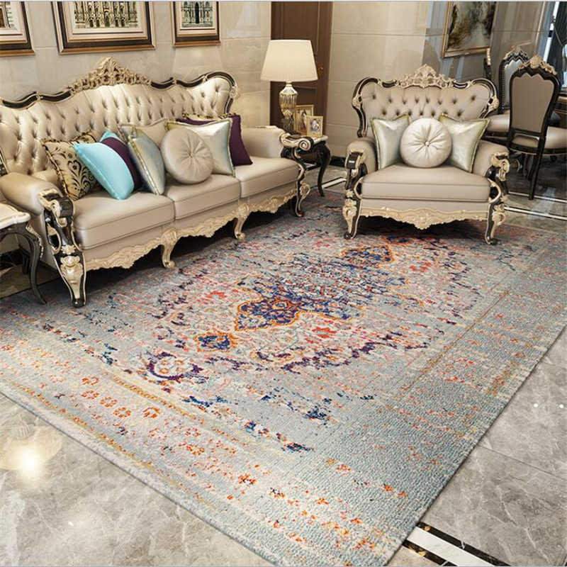 2019 새로운 두꺼운 페르시아 카펫 거실 용 침실 러그 홈 카펫 플로어 도어 매트 섬세한 지역 러그 매트 대형 카펫
