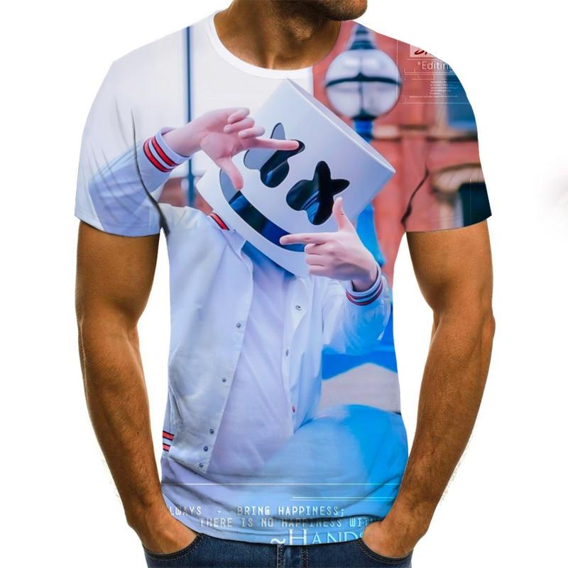 2020 Summer T shirt Men Streetwear O Neck Short Sleeve Tees Tops  Punk Style  Male Clothes Casual  3D Print Tshirt