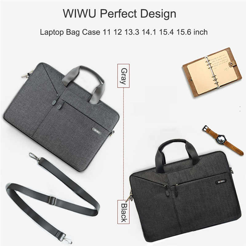 Torba na laptopa WIWU 17.3 15.6 14.1 13.3 wodoodporna torba na laptopa dla Xiaomi Pro 15.6 torba na laptopa dla Macbook Air 13 Case Pro 13 torba
