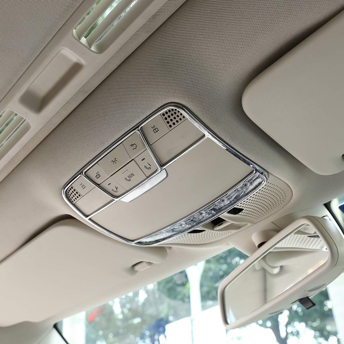 Acessórios do carro ABS Chrome Frente Light Reading W205 C260 Decorar Quadro Apare para Mercedes Benz Classe E W213 X253 GLC 2015-2018