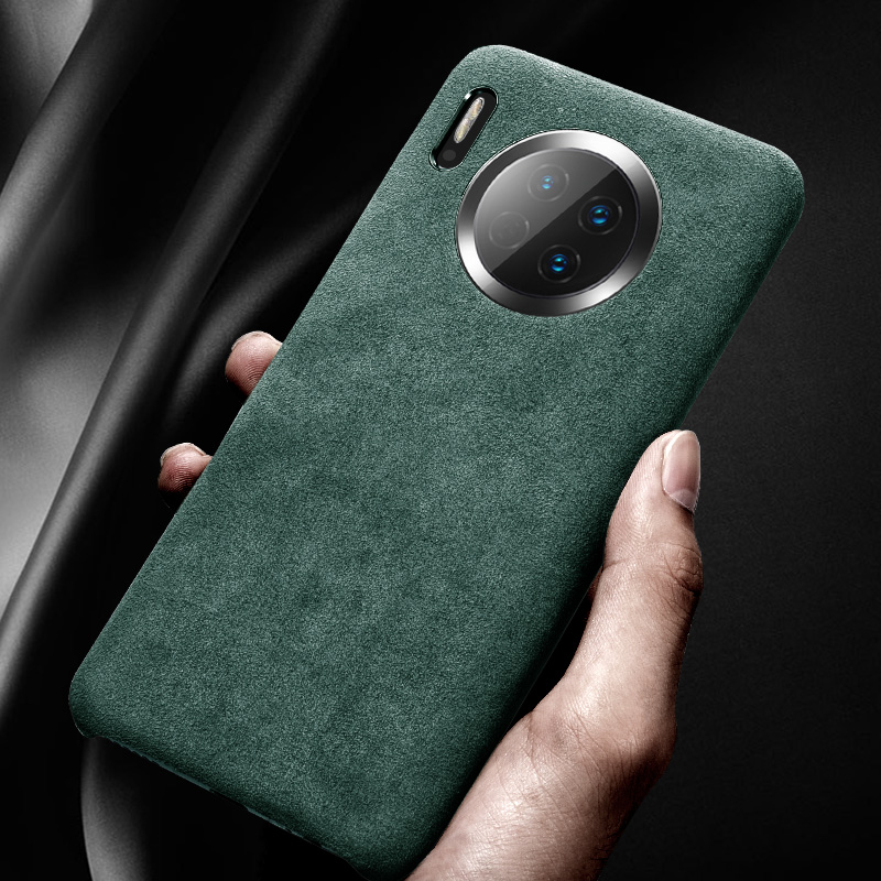 Genuine Leather flannel Back Case For Huawei Mate 30 Pro Case For Huawei Mate 30 / Pro Back cover Soft touch Phone Cases