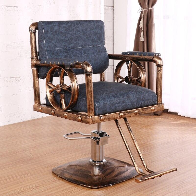 Retro Hair Chair Hair Salon Special Hair Stool Barber Chair Hair Cutting Chair