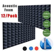 Silencing Acoustic Foam Soundproof Pyramid Tiles Insulation-Board Studio 30x30x8cm High-Density
