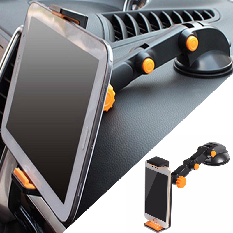 YPAY Strong Suction Tablet Car Phone Holder Stand Easy To Adjust For IPAD Air Mini  Sucker 4-11 Inch Tablet Holder For IPhone X
