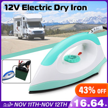 12V 150W 50Hz Portable Electric Clothes Handheld Dry Iron Non-stick Soleplate For Camper Travel Outdoor Automatically Adjust