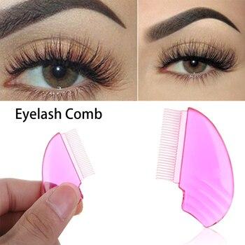 1pc Comb Women's Fashion New Hot Sale Eyelash Comb Eyelash Lift Curl Eye Makeup Eyelash Extension Plastic Brush Beauty Tool
