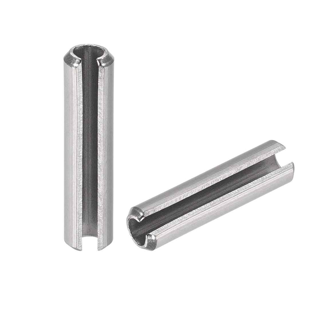 M8 x 40mm 304 Stainless Steel Split Spring Roll Dowel Pins Plain Finish 10Pcs uxcell Slotted Spring Pin