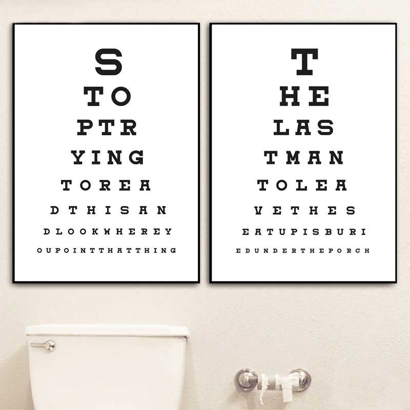 Typography Posters And Prints Toilet