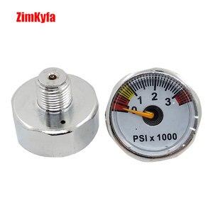 Image 2 - Paintball PCP wiatrówka manometr 3500psi Mini manometr manometru 1/8npt 25mm