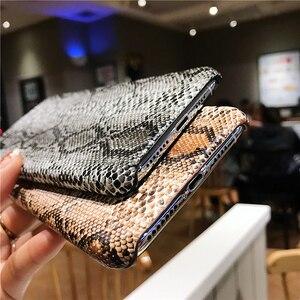 Image 5 - Elegante retro cassa del telefono creativo per iphone X XR XS MAX per il iphone 6 6S 7 8 PIÙ anti Autunno di personalità in pelle di pitone caso