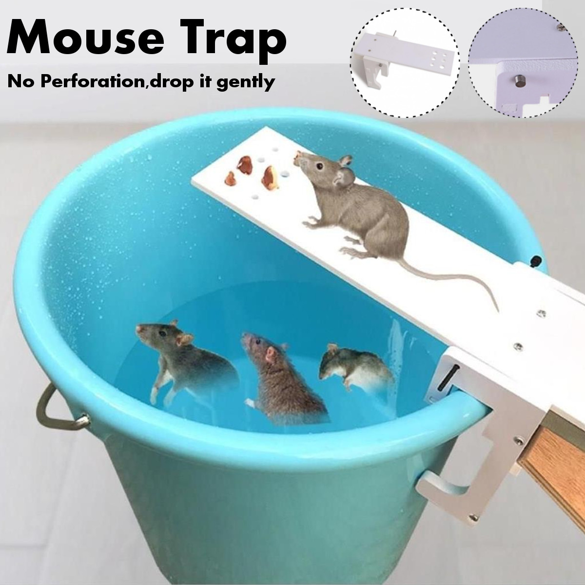 DIY Home Garden Pest Controller Rat Trap Quick Kill Seesaw Mouses Catcher Bait Home Rat Traps Mouses Pest Mice Traps image