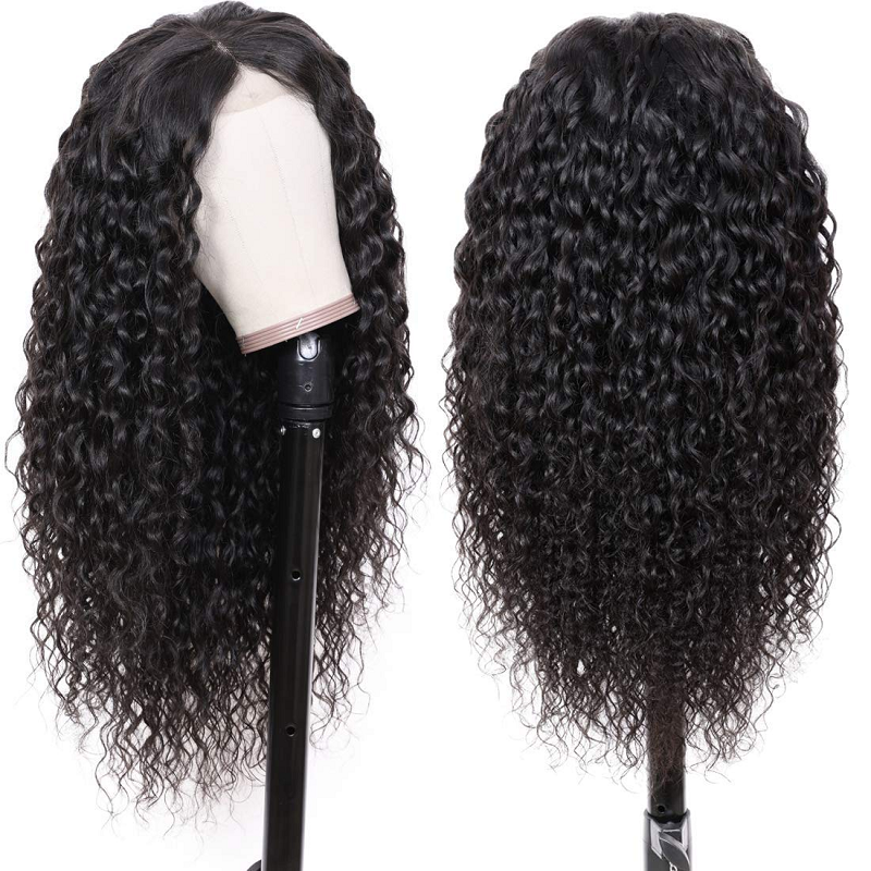 Curly Human Hair Wig Brazilian Virgin Jerry Curly Lace Wig Pre Plucked For Black Women 28 Inch Long Machine Made Wigs Full End