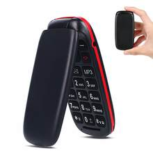 Entsperrt Funktion Handy Senior Kinder Mini Flip Handys Russische Tastatur 2G GSM Push-Taste Schlüssel Handy(China)