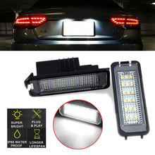 12-30V License Plate Light 18-SMD W/ Resistance For Golf Phaeton Rabbit 6000-6500K