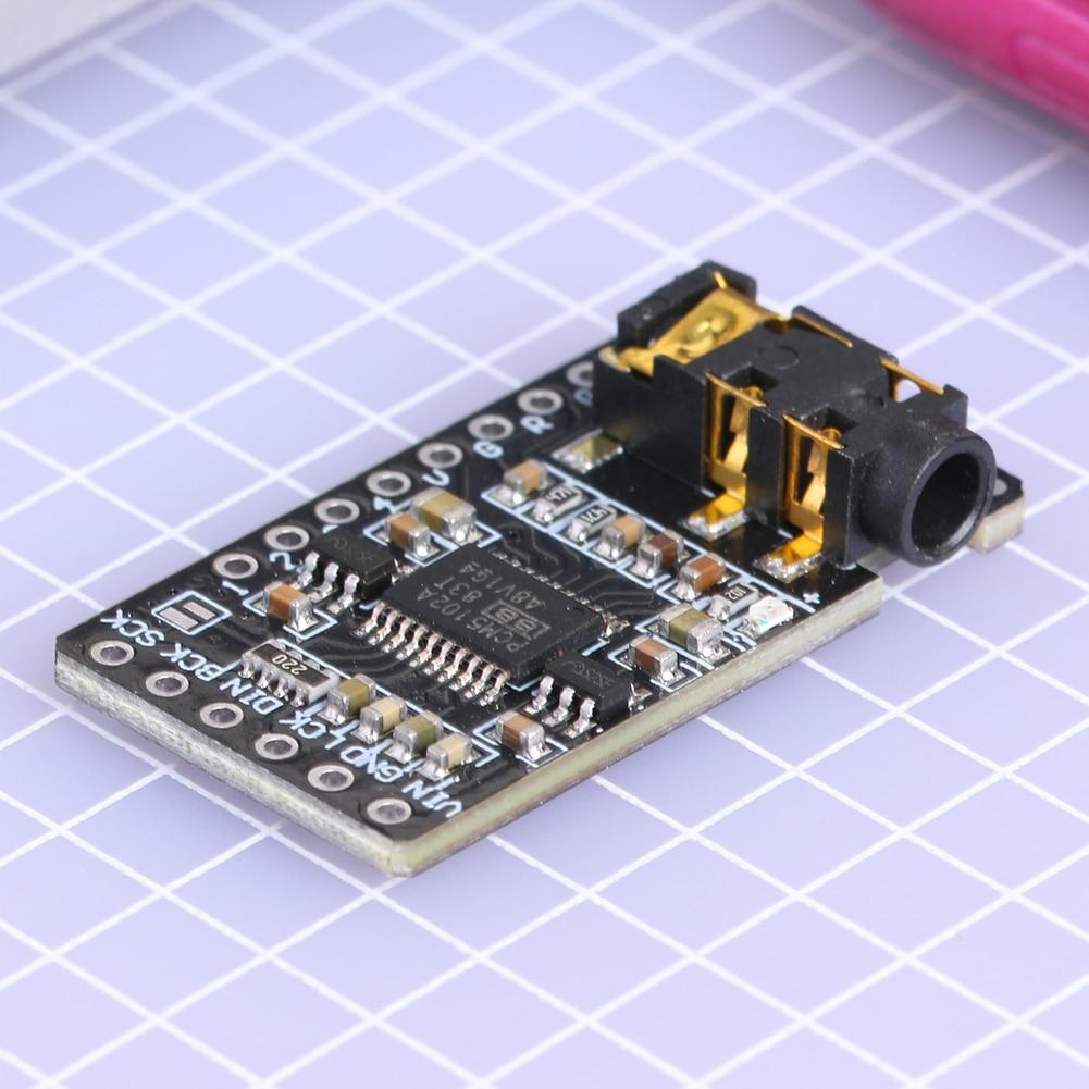 Caixas de poupança de espaço do altifalante do som i2s pcm5102 do módulo do jogador do aux jack do decodificador estéreo de dac de 3.5mm para o pi da framboesa