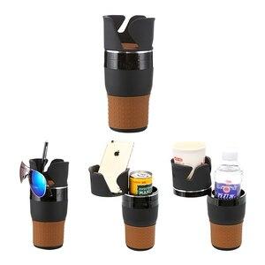 Image 5 - רכב מחזיק כוס שתיית בקבוק מחזיק משקפי שמש טלפון ארגונית Stowing לסדר עבור אוטומטי רכב סטיילינג אביזרי עבור bmw לאדה