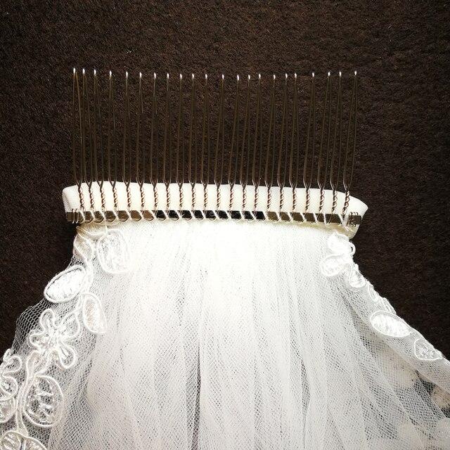 реальные фотографии свадебные вуали одного слоя кружева завесу фотография