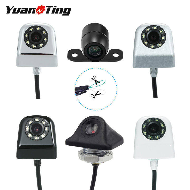 Yuanting Rear-View-Reverse/Forward-Camera Distance-Scale-Lines Front-Side Car Waterproof