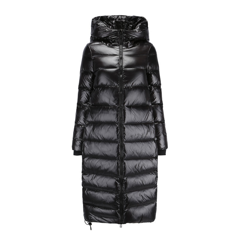Jacket Puffer Women Korean Long White Duck Down Jackets Woman Down Coat Warm Parka Kurtka Damska 1801 YY1378 S
