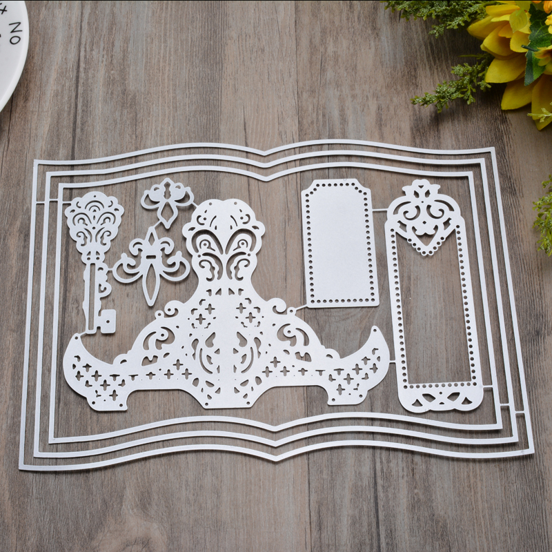 Books Metal Cutting Dies For DIY Scrapbooking Embossing Paper Cards Making Decorative Crafts Supplies Templates
