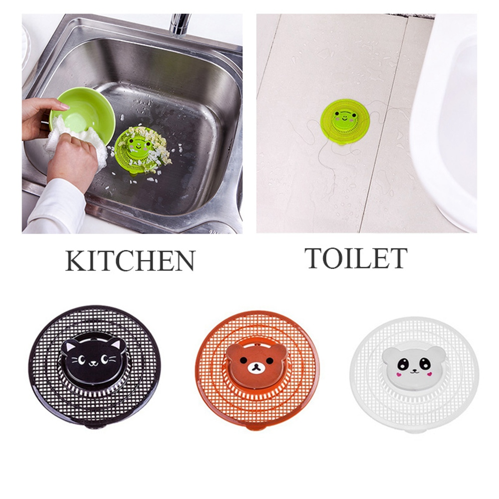Sewer Outfall Sink Can Cut Cartoon Drain Filter Sink Strainer PP Drain Hair Catcher Cover Bath Kitchen Gadgets Accessories