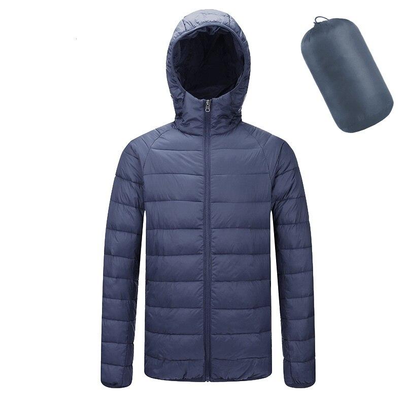 Men Down Jackets Parka Coat Autumn Winter Warm Outwear Ultra Light Mens Portable Hooded Coats Casual Waterproof Windbreak Jacket