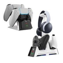PS5 contrôleur chargeur Berceau Station Daccueil pour PlayStation 5 Sans Fil Manettes Dock De Remplissage Rapide USB Type C Rapide Support de CHARGEUR