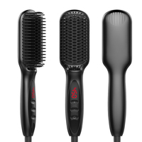 Hair Straightener Beard Hair Straightener Flat Iron Comb For Beard Professional Women Comb Styling Tools